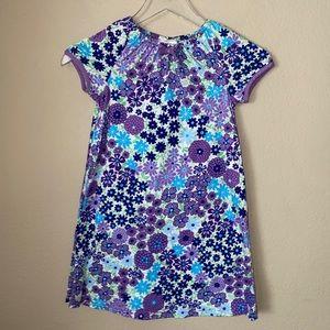 Hanna Andersson Floral Cotton Dress Sz 120 6/7